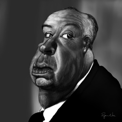 Alfred Hitchcock by Ryan Nore