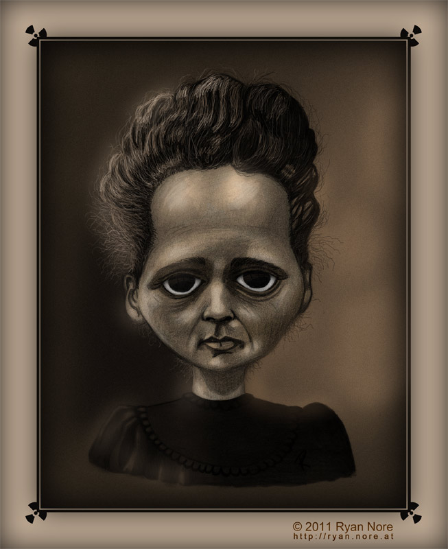 It's just a graphic of Persnickety Marie Curie Drawing